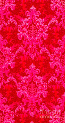 Luscious Neo Baroque Hot Pink Bubblegum Damask Poster