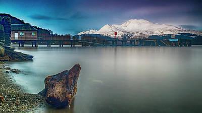 Luss Pier, Loch Lomond Poster by Douglas Milne