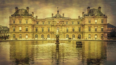 Luxembourg Palace Paris Poster by Joan Carroll