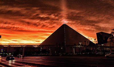 Poster featuring the photograph Luxor Las Vegas by Michael Rogers