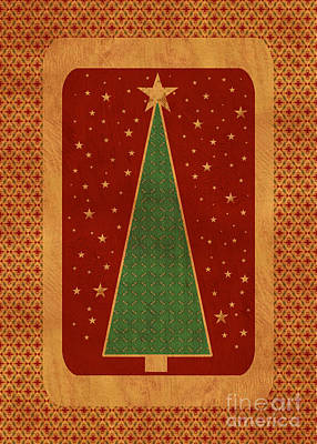 Luxurious Christmas Card Poster by Aimelle