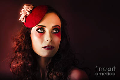 Luxury Woman In Red Makeup And Fashion Accessories Poster by Jorgo Photography - Wall Art Gallery