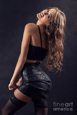 Luxury Woman Undressing Poster by Aleksey Tugolukov