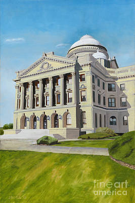 Luzerne County Courthouse Poster by Austin Burke