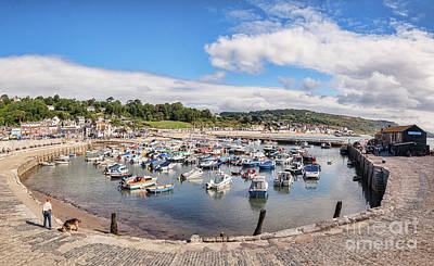 Lyme Regis, The Cobb And Harbour Poster