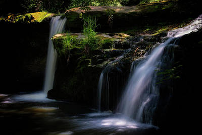 Poster featuring the photograph Lynn Mill Waterfalls by Jeremy Lavender Photography