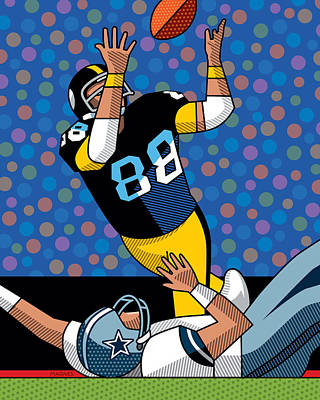 Lynn Swann Super Bowl X Poster by Ron Magnes