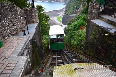 Lynton And Lynmouth Cliff Railway Poster by Nichola Denny