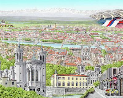 Lyon France Poster by Albert Puskaric