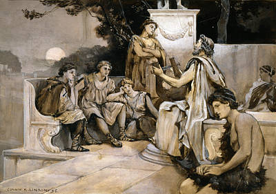 Lyre Of Pindar, 1896 Poster by Granger
