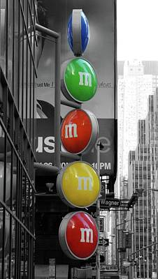 M And Ms In New York City Poster