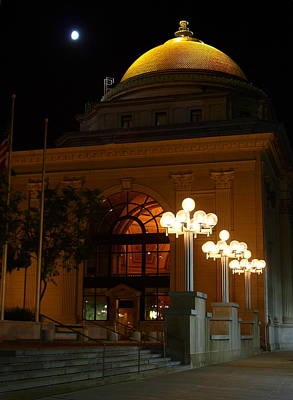 Poster featuring the photograph M And T Bank At Night by Don Nieman