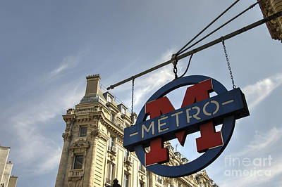 M For Metro  Poster by Rob Hawkins