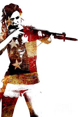 M1 Carbine And Bayonet Poster by David Bazabal Studios