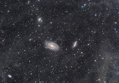 M81 And M82 Widefield Poster