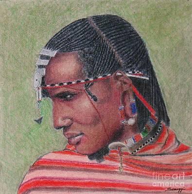 Maasai Warrior II -- Portrait Of African Tribal Man Poster