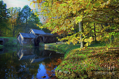 Mabry Mill Dreamy Poster by Skip Willits