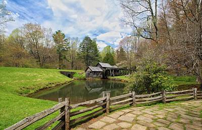 Mabry Mill In The Spring Poster