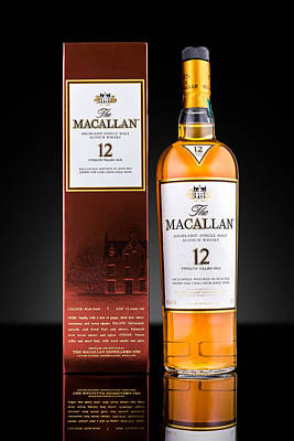 Macallan Single Malt Whisky Poster by Mihai Andritoiu