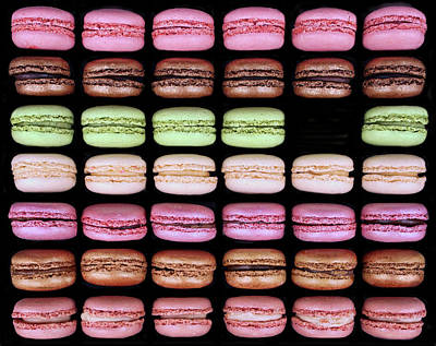 Poster featuring the photograph Macarons - One Missing by Nikolyn McDonald