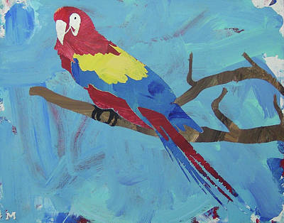 Poster featuring the painting Macaw by Candace Shrope