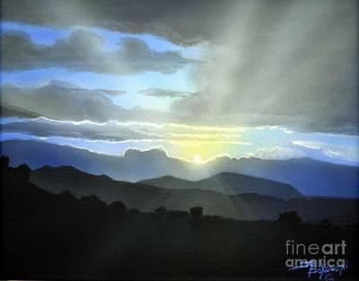 Macedonian Sunset Poster by Jerry Bokowski