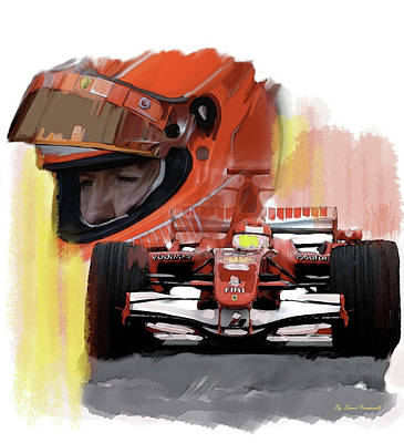 Poster featuring the painting Macher  Michael Schumacher by Iconic Images Art Gallery David Pucciarelli