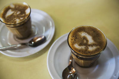 Machiato Coffee In The Tomoca Coffee Poster