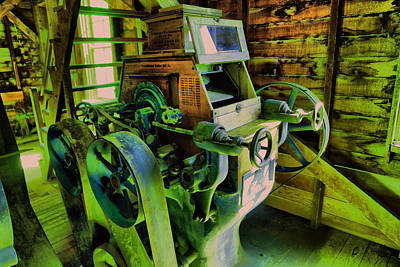 Machinery In An Old Grist Mill Poster by Jeff Swan
