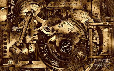 Clock Machinery Poster