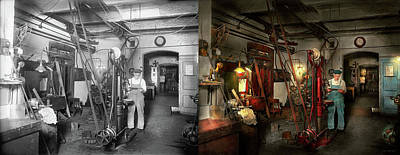 Poster featuring the photograph Machinist - Government Approved 1919 - Side By Side by Mike Savad