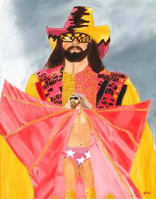Macho Man Randy Savage Wwe Portrait Poster