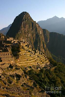 Machu Picchu At Dawn Poster by Matt Tilghman