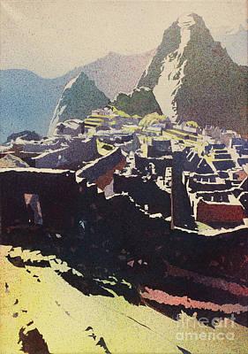 Machu Picchu Morning Poster