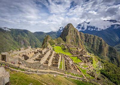 Poster featuring the photograph Machu Picchu Peru by Gary Gillette