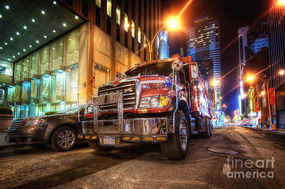 Mack Truck Nyc Poster
