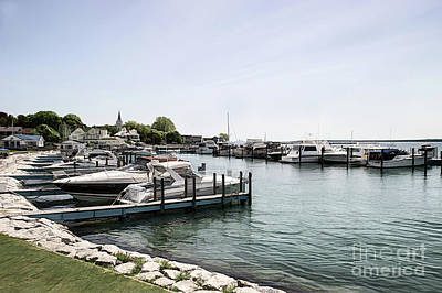 Mackinac Marina Art Poster