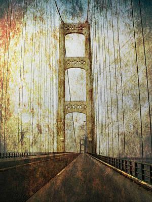 Mackinaw Bridge By The Straits Of Mackinac Poster
