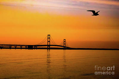 Mackinaw Sunset  Poster