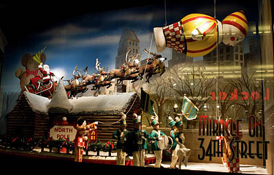 Macy's Miracle On 34th Street Christmas Window Poster