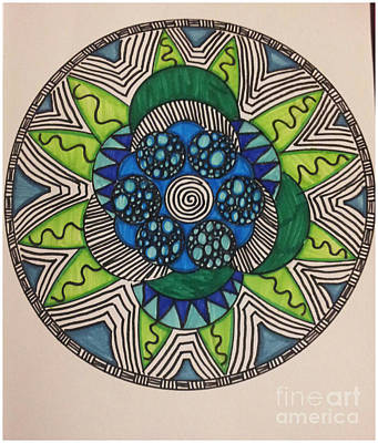 Mad Mandala Poster by Reneza Waddell