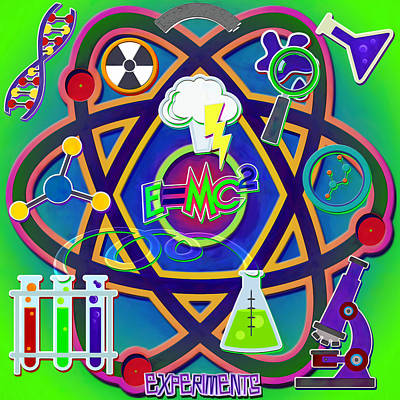 Mad Science Collage Poster by Steve Ohlsen