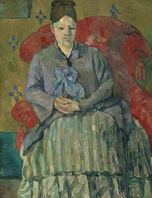 Madame Cezanne In A Red Armchair About 1877 Poster by Paul Cezanne