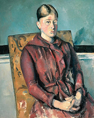 Madame Cezanne In A Yellow Armchair 1888-1890 Poster by Paul Cezanne