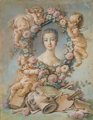 Madame De Pompadour Poster by Francois Boucher