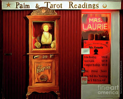 Madame Laurie's 24 Hour Fortune Atm Psychic Palm Tarot Fortune Be Told Circa 2016 20160626 Horizonta Poster by Wingsdomain Art and Photography
