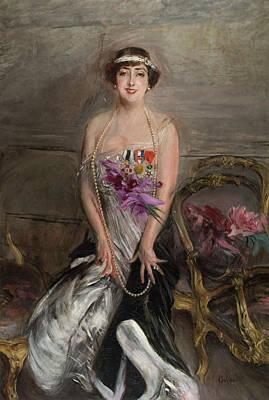 Madame Leclanche Poster by Giovanni Boldini
