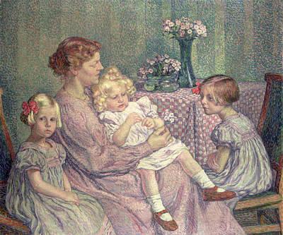 Madame Van De Velde And Her Children Poster