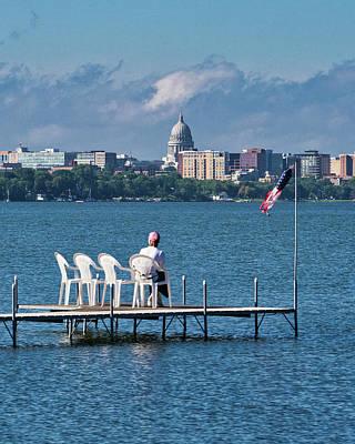 Madison Capitol Across Lake Mendota Poster