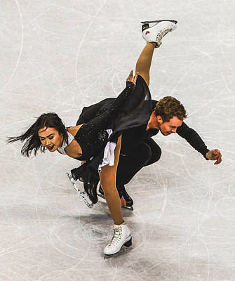 Madison Chock And Evan Bates Poster by Don Kuing